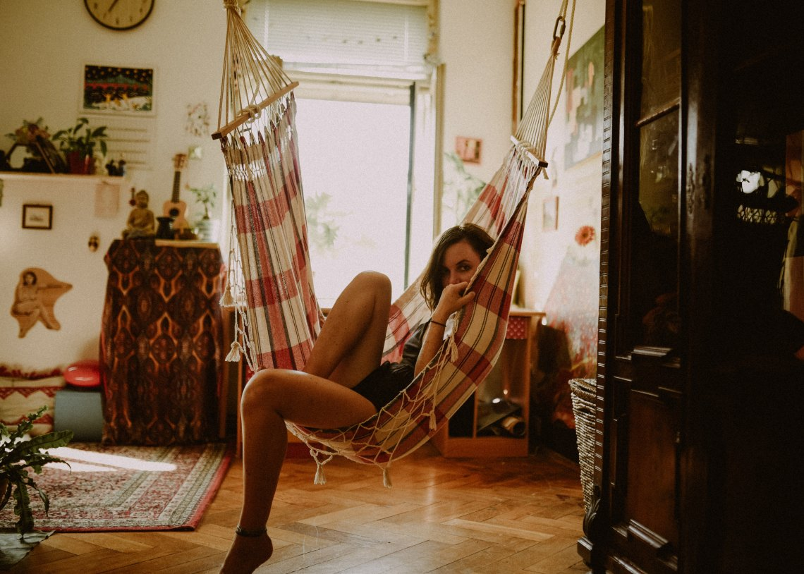 girl in hammock, girl lounging, things I'm scared to tell you