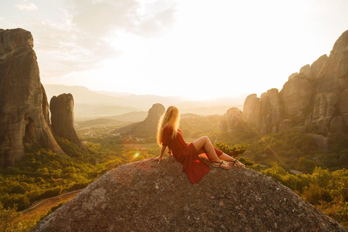 Girl on mountain