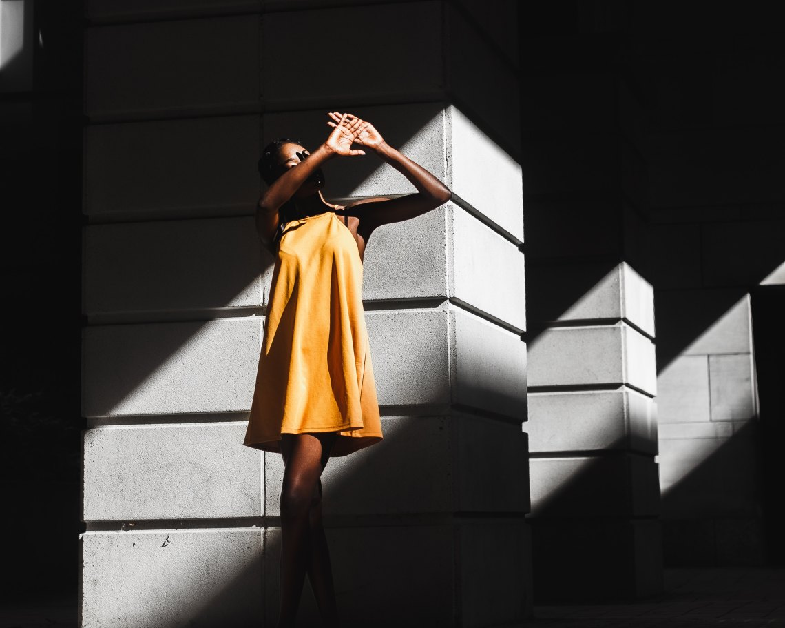 woman in the sunlight