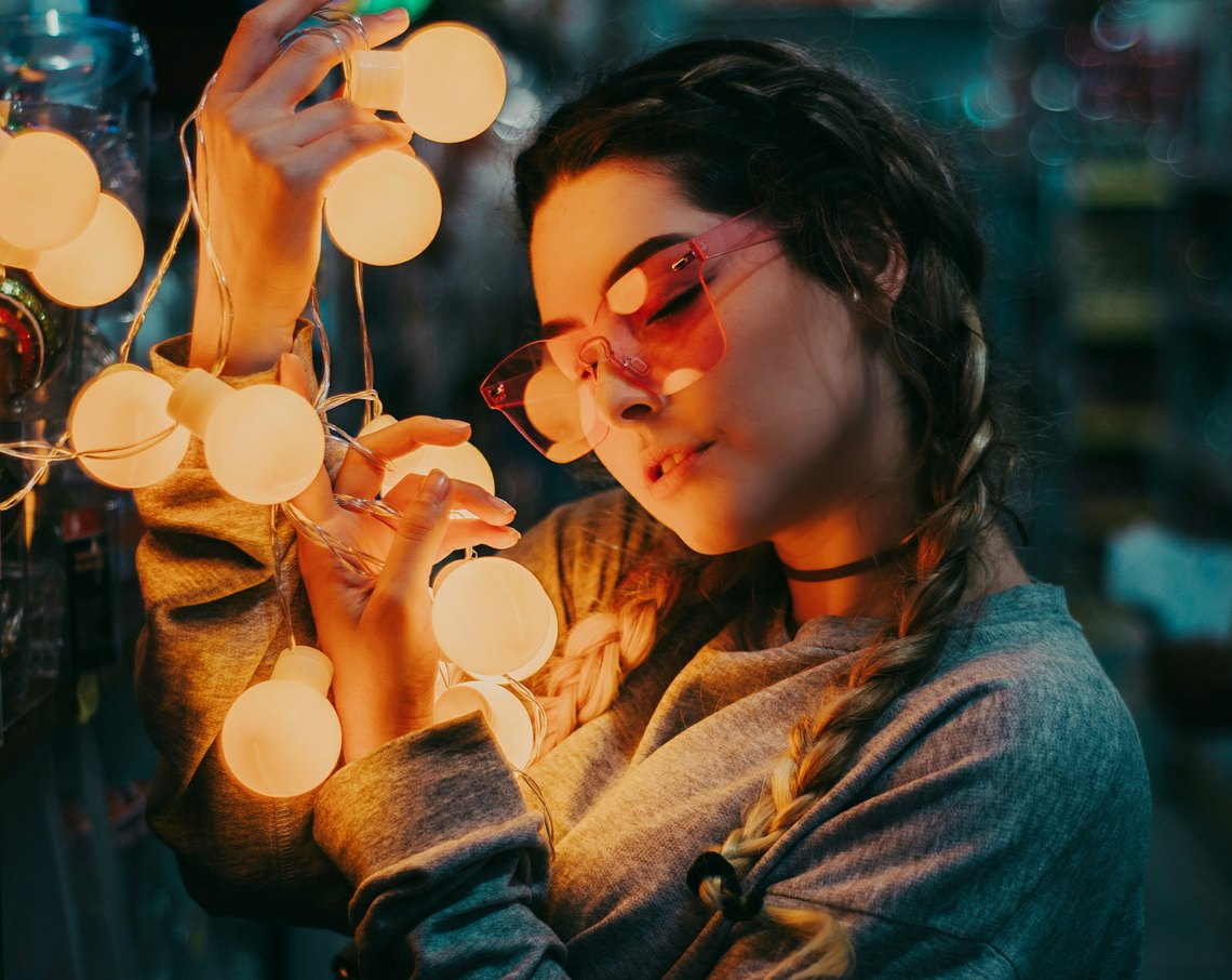 girl looking at lights, fire, poetry, I am like fire, strong woman