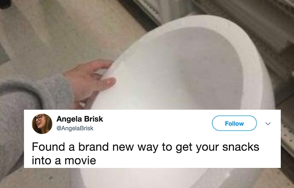 This Woman Came Up With A Genius Way To Sneak Snacks Into The Movies And You're Going To Wish You'd Thought Of ItSooner