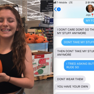 A text fight between two sisters