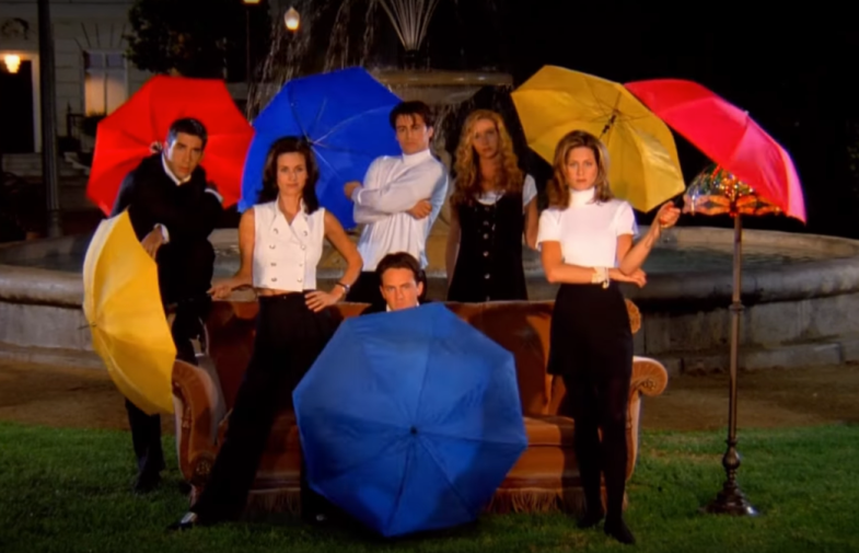 The Friends opening theme from Season 1