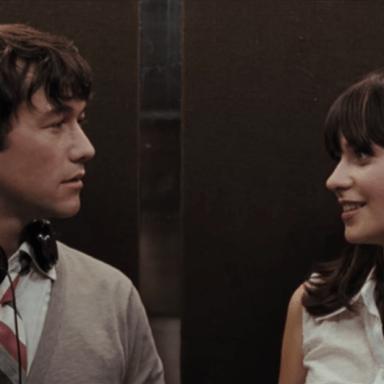 Joseph Gordon Levitt and Zoe Deshanel in (500) Days Of Summer
