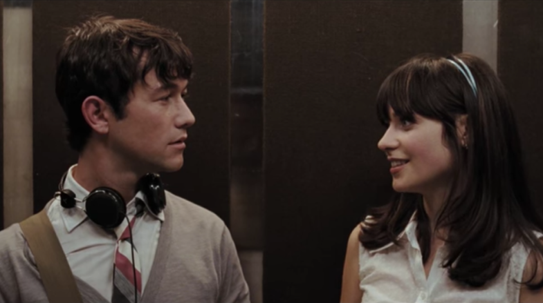 Joseph Gordon Levitt and Zoe Deshanel in (500) Days Of Summer