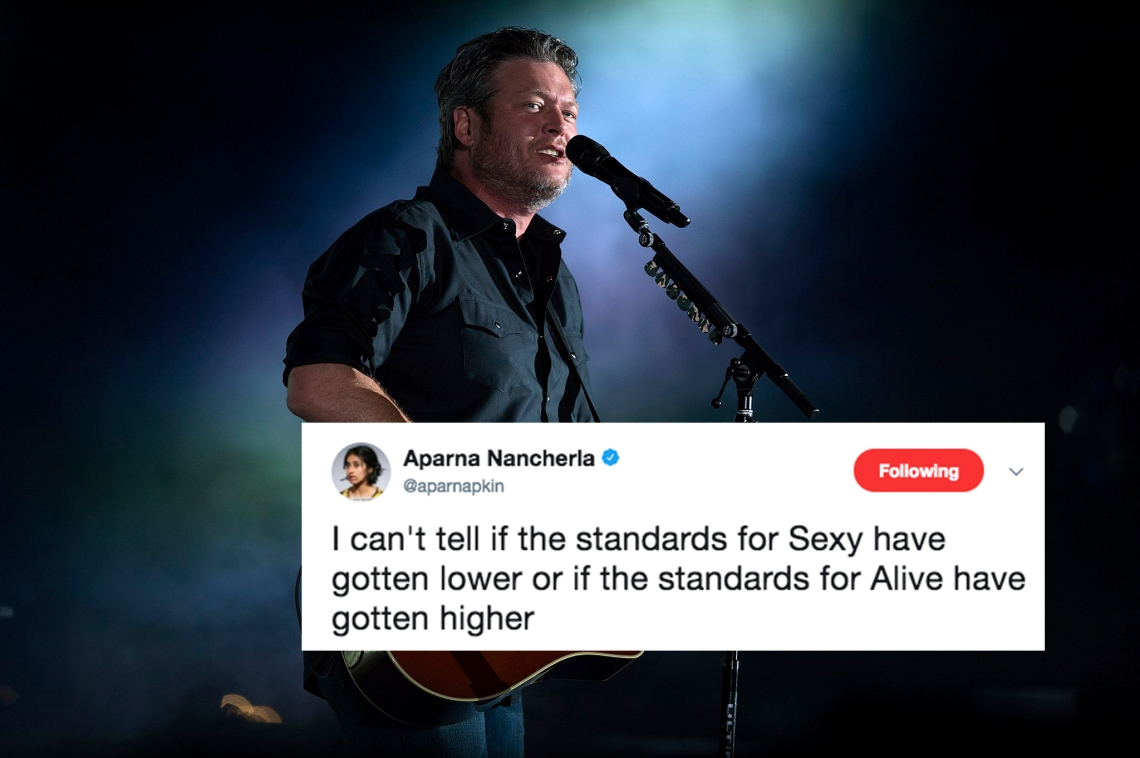Blake Shelton in concert and a tweet