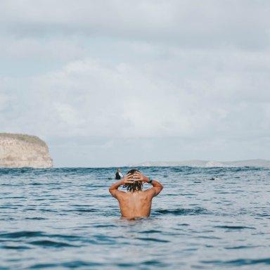 Guy in ocean