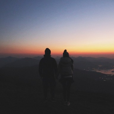couple in sunset, couple, long distance, long distance relationship, love through distance