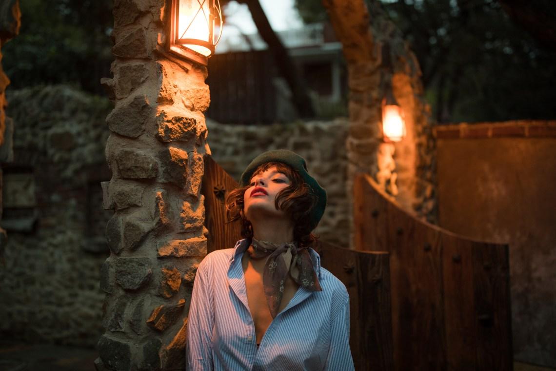 woman standing looking free