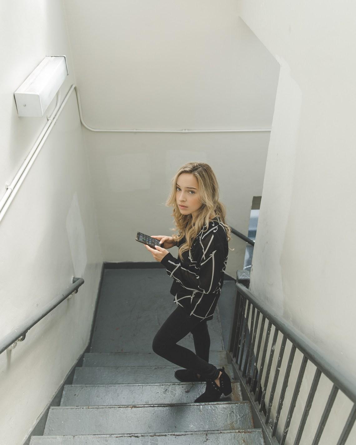 Girl texting a boy