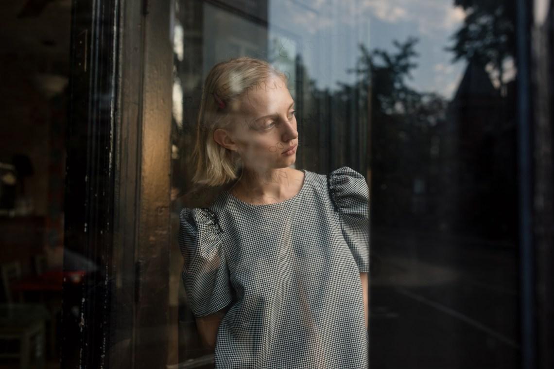 gloomy girl reflection