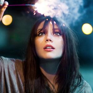 girl with a sparkler