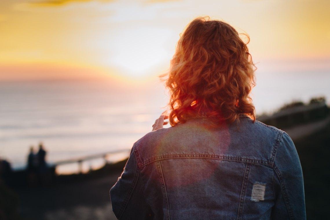 person sunrise