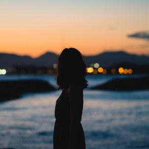 woman facing away