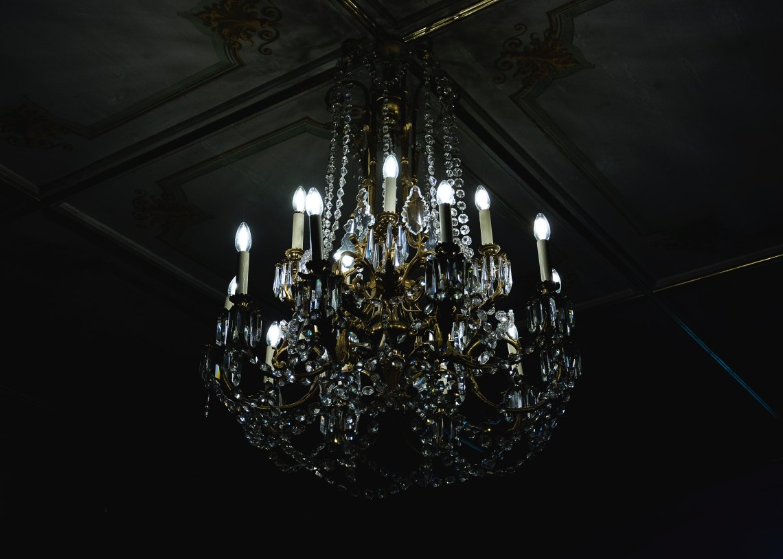 A beautiful, old chandelier