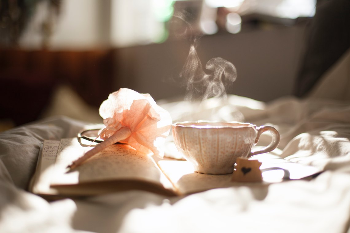 teacup and writing