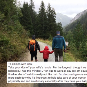 This Dad's Secret To Co-Parenting With His 'Warrior' Wife Is Making Everyone Emotional
