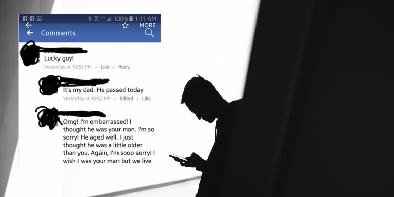 This Thirsty AF Guy Used His FB Friend's Heartbreaking Post About His Father's Death To Hit OnHim
