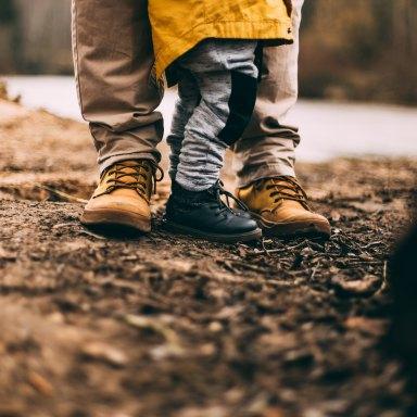 parents and children feet
