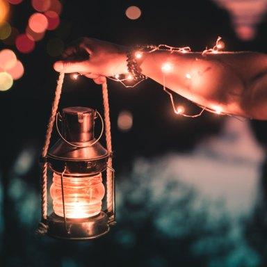 lantern in hand