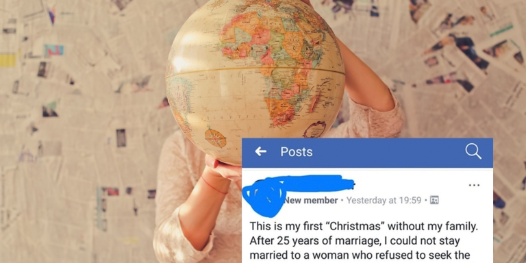 This Flat Earther Explained Why He Spent Christmas Alone In This Hilariously Bizarre FacebookPost
