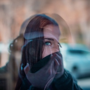 girl reflection