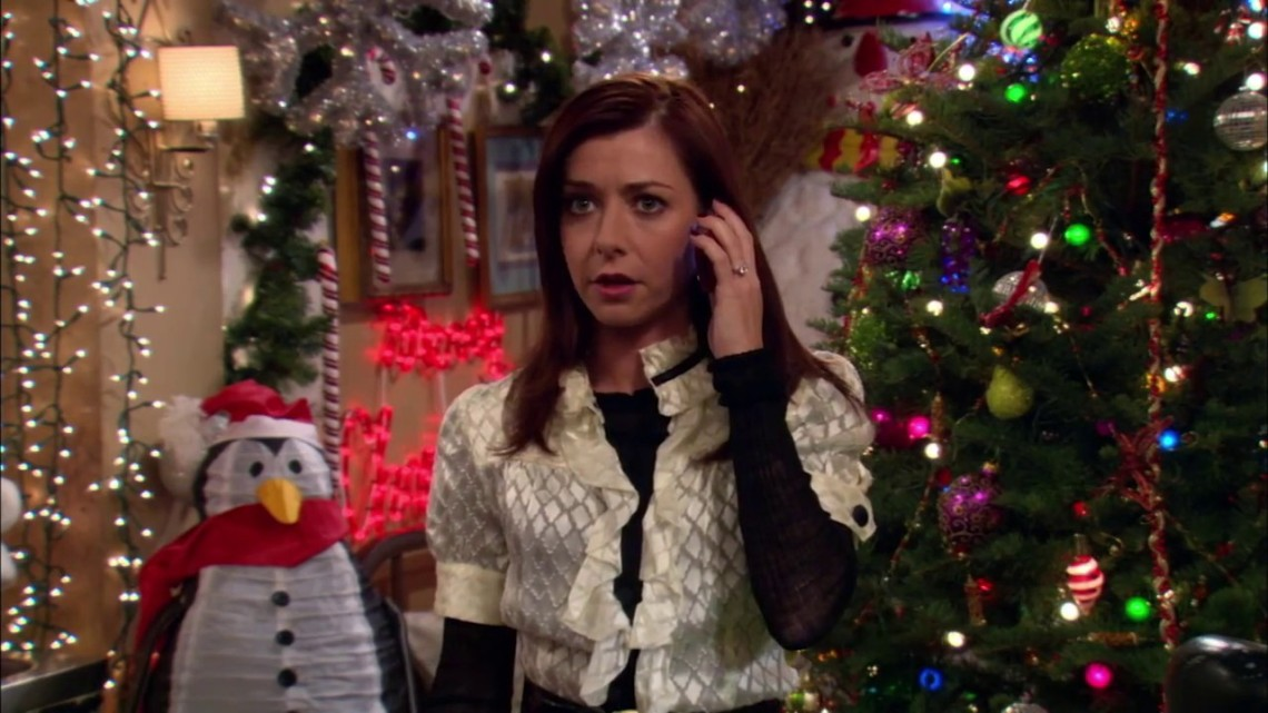 lily during christmas ow i met your mother
