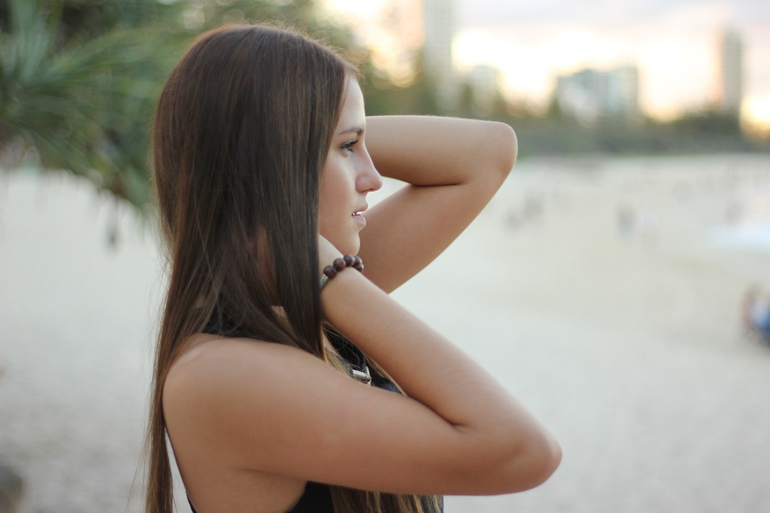 Young woman portrait on the Burleigh Beach