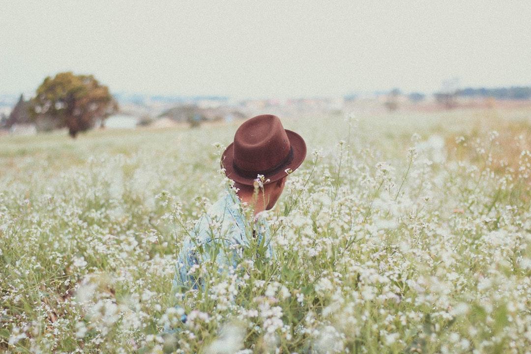 men's brown hat