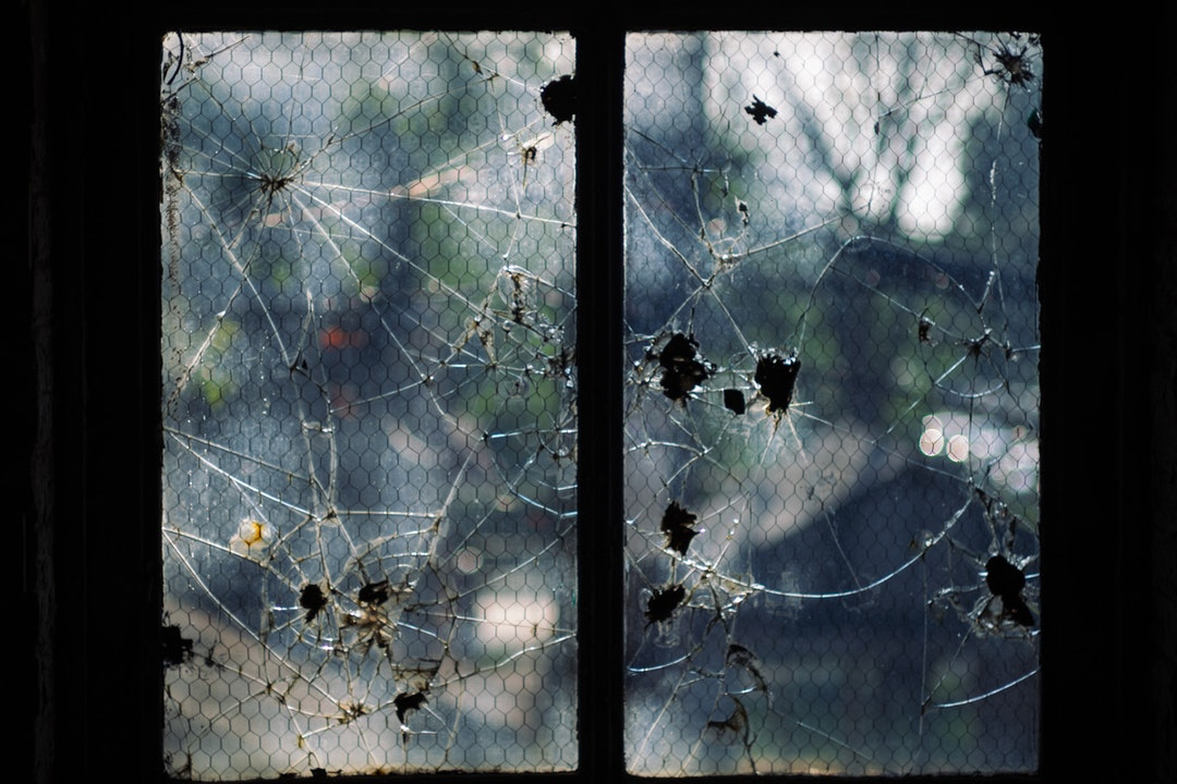 cracked glass window