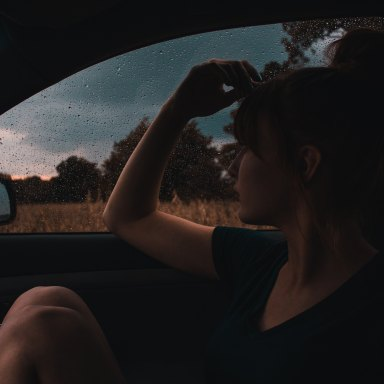 girl looking out car window, you will be okay, everything will be okay, finding peace, slowing down
