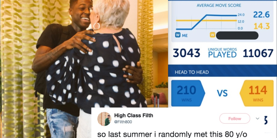 This Man Finally Met The 81-Year-Old Woman He Befriended On 'Words With Friends' And Their Whole Story Will Warm Your Heart