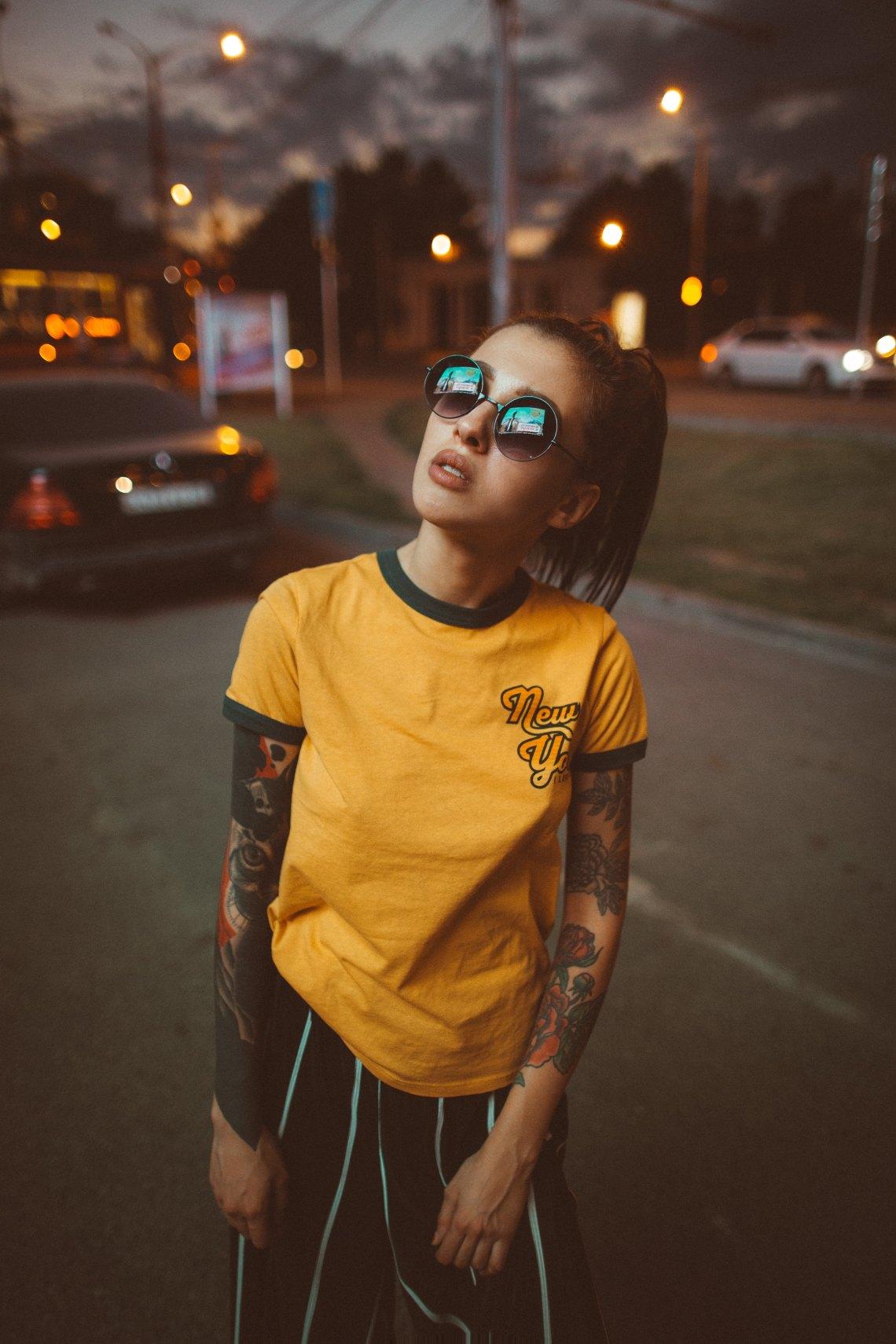 girl in a yellow shirt