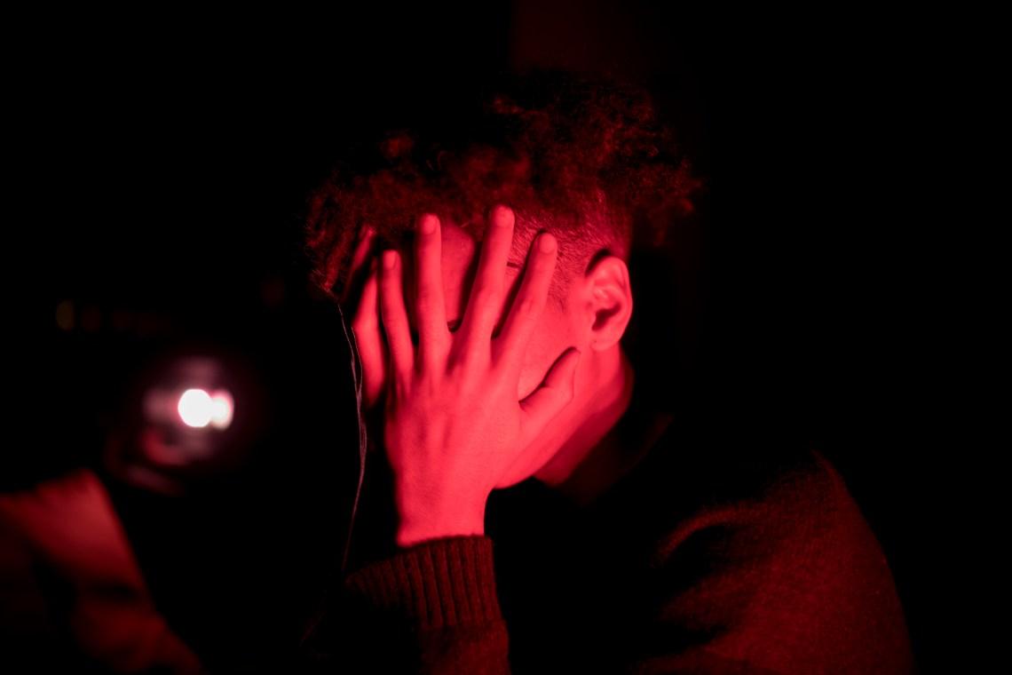man in darkroom