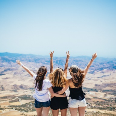 girls with arms up, happy girls celebrating, being a Christian, what it means to be a Christian
