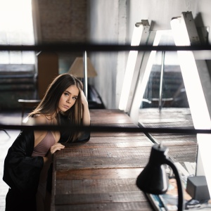 woman sitting and thinking