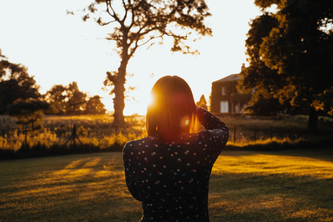 girl in sunlight
