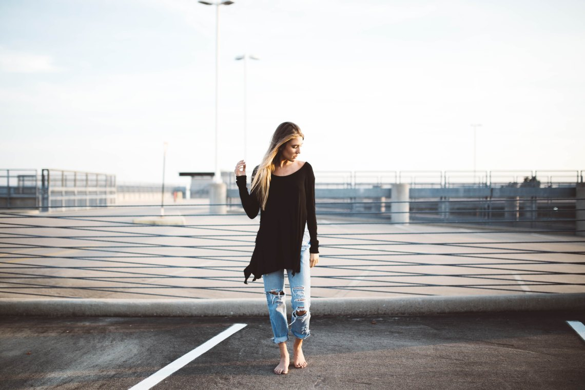 woman standing confidently
