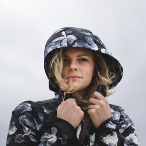 woman standing in cold weather