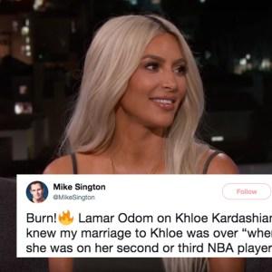 Kim Kardashian Brutally Dragged Lamar Odom In This Savage Tweet For Talking Shit On Khloe