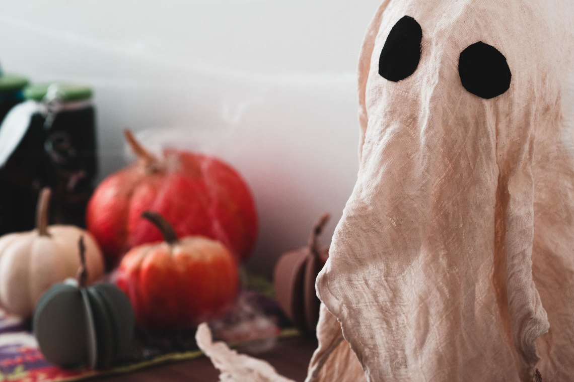 Ghost and pumpkins