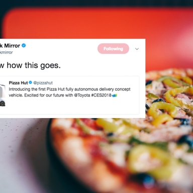 Pizza Hut Unveiled A Delivery Car That Won't Need A Driver And It's Freaking TF Out Of 'Black Mirror' Fans