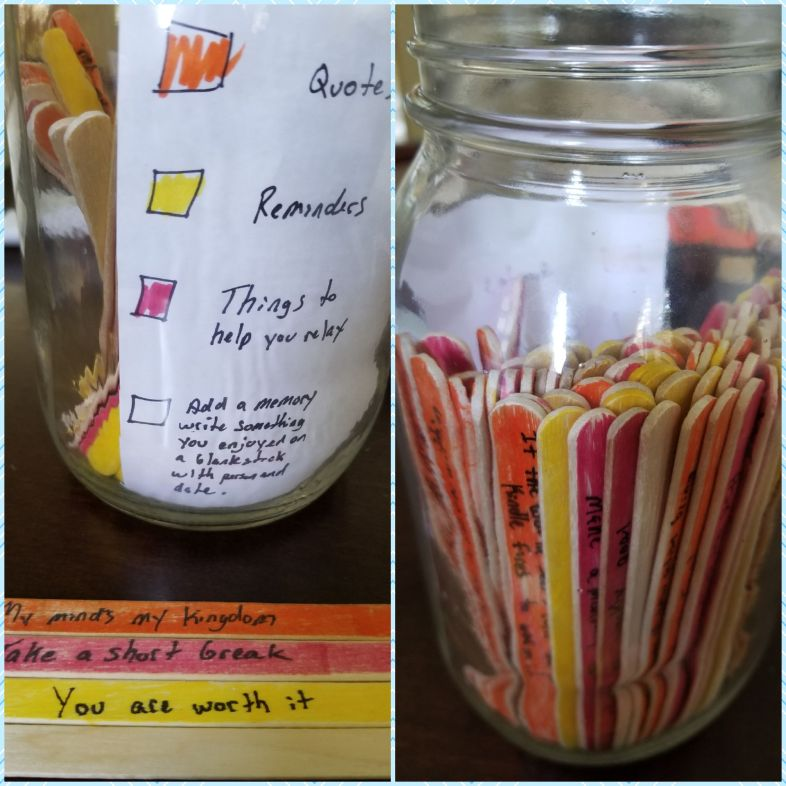 popsicle stick method for helping with depression