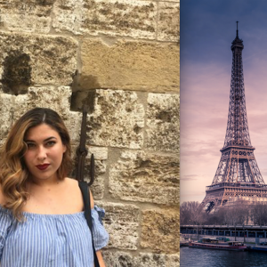 Juliana Corrales and the Eiffel Tower