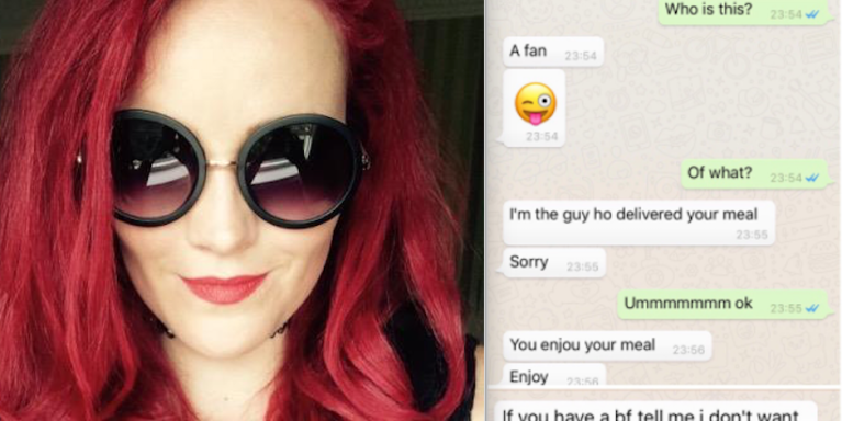 A Food Delivery Guy Stole This Woman's Number From His Work To Send Her These CreepyTexts