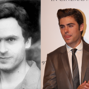 Ted Bundy and Zac Efron at an award show