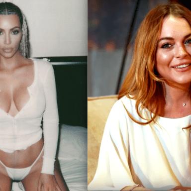 Kim Kardashian with cornrows and Lindsay Lohan