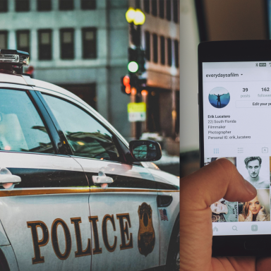 A police car and an iphone on insta