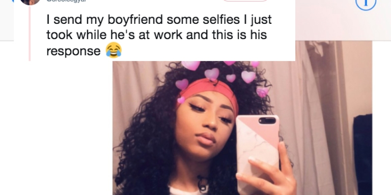 This Woman Sent A Fire Selfie To Her BF And His Response Was Extra AF