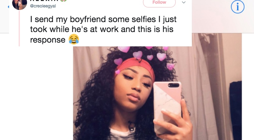 This Woman Sent A Fire Selfie To Her BF And His Response Was ExtraAF